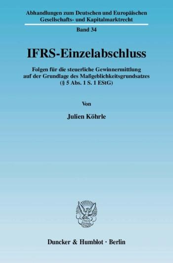 Cover: IFRS-Einzelabschluss