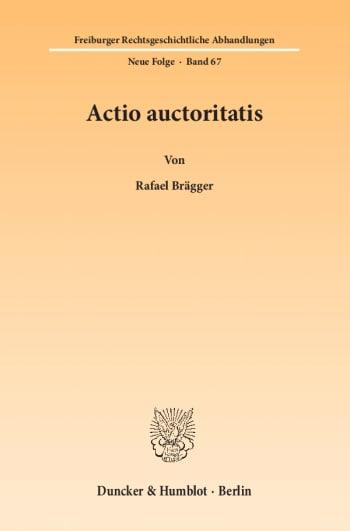 Cover: Actio auctoritatis