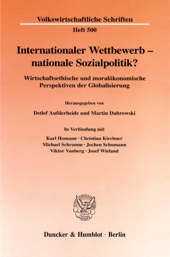 Cover: Internationaler Wettbewerb - nationale Sozialpolitik?