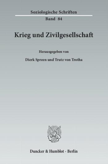 Cover: Krieg und Zivilgesellschaft