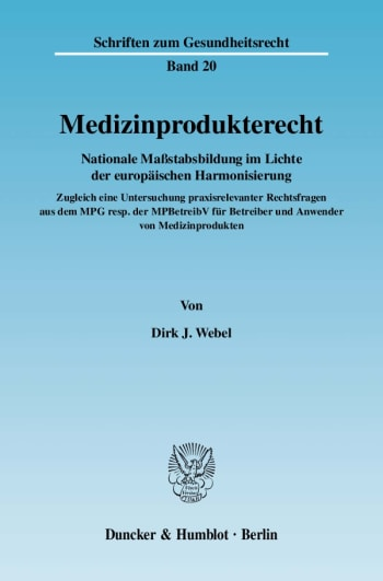 Cover: Medizinprodukterecht