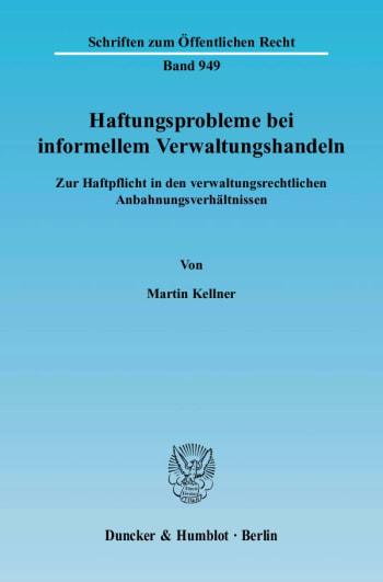 Cover: Haftungsprobleme bei informellem Verwaltungshandeln