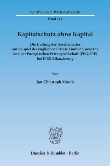 Cover: Kapitalschutz ohne Kapital