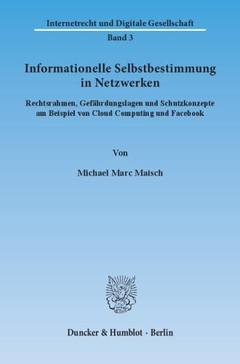 Cover: Informationelle Selbstbestimmung in Netzwerken