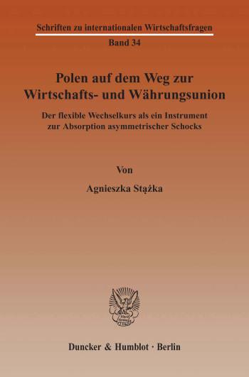 Cover: Schriften zu internationalen Wirtschaftsfragen (IWF)