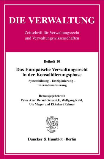 Cover: Das Europäische Verwaltungsrecht in der Konsolidierungsphase