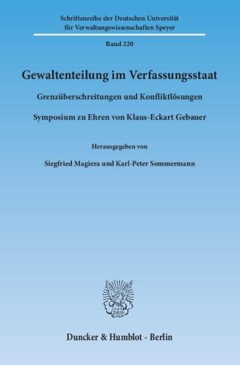 Cover: Gewaltenteilung im Verfassungsstaat