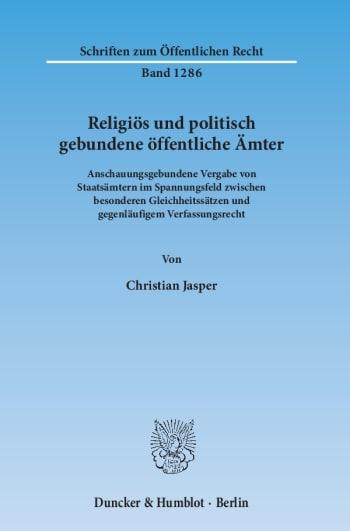 Cover: Religiös und politisch gebundene öffentliche Ämter