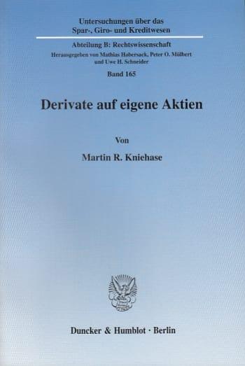 Cover: Derivate auf eigene Aktien