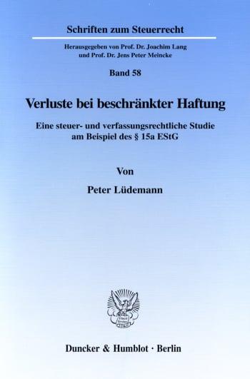 Cover: Verluste bei beschränkter Haftung