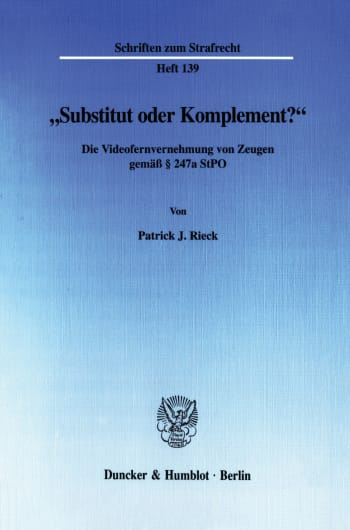 "Cover: ""Substitut oder Komplement?"""