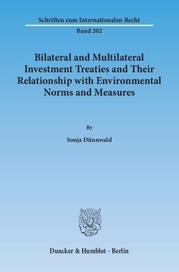 Cover: Bilateral and Multilateral Investment Treaties and Their Relationship with Environmental Norms and Measures