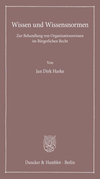 Cover: Wissen und Wissensnormen