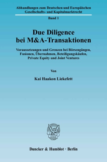 Cover: Due Diligence bei M&A-Transaktionen
