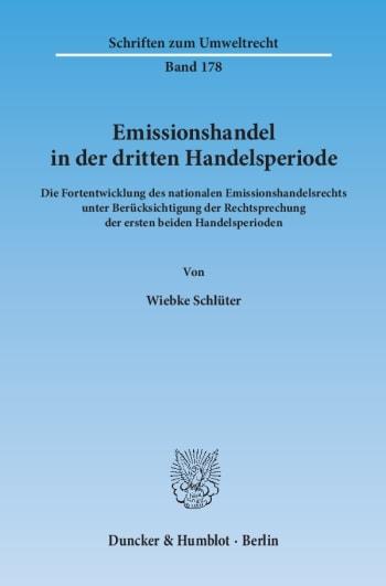 Cover: Emissionshandel in der dritten Handelsperiode