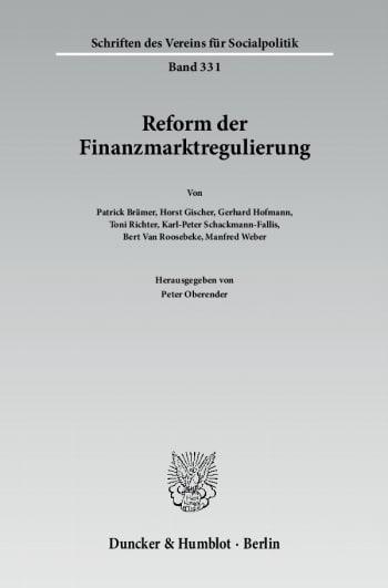 Cover: Reform der Finanzmarktregulierung