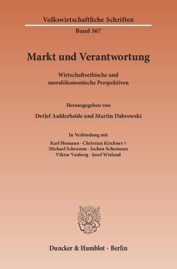 Cover: Markt und Verantwortung