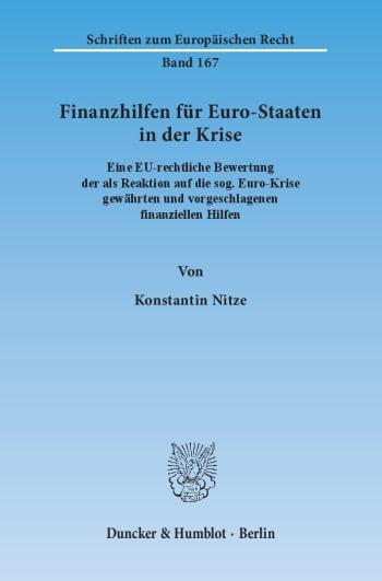 Cover: Finanzhilfen für Euro-Staaten in der Krise