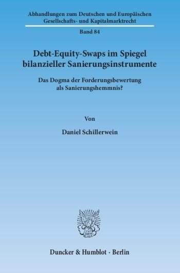 Cover: Debt-Equity-Swaps im Spiegel bilanzieller Sanierungsinstrumente