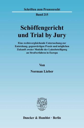 Cover: Schöffengericht und Trial by Jury