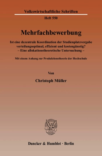 Cover: Mehrfachbewerbung