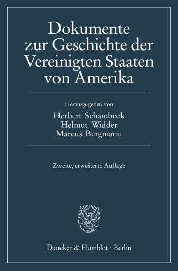 Cover: Dokumente zur Geschichte der Vereinigten Staaten von Amerika