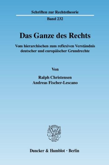 Cover: Das Ganze des Rechts