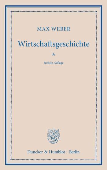Cover: Wirtschaftsgeschichte