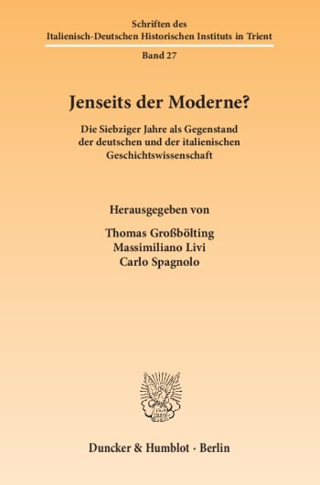Cover: Jenseits der Moderne?