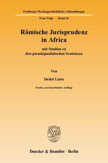 Cover: Römische Jurisprudenz in Africa