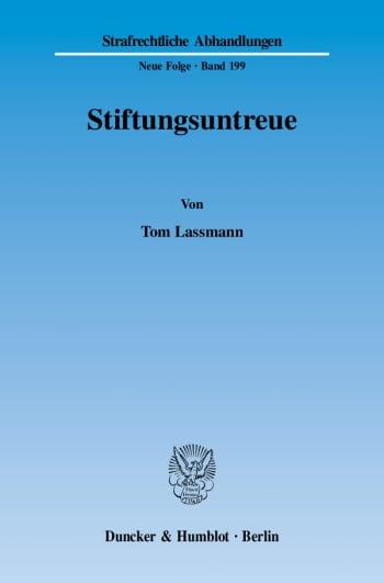 Cover: Stiftungsuntreue