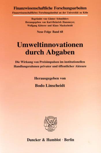 Cover: Umweltinnovationen durch Abgaben