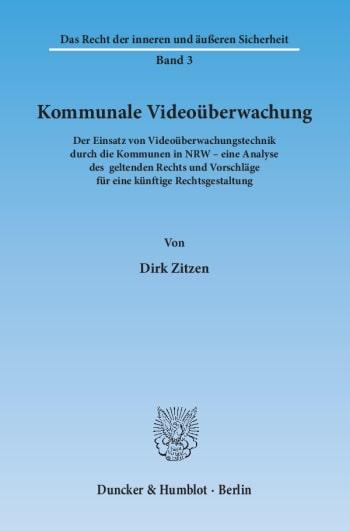 Cover: Kommunale Videoüberwachung
