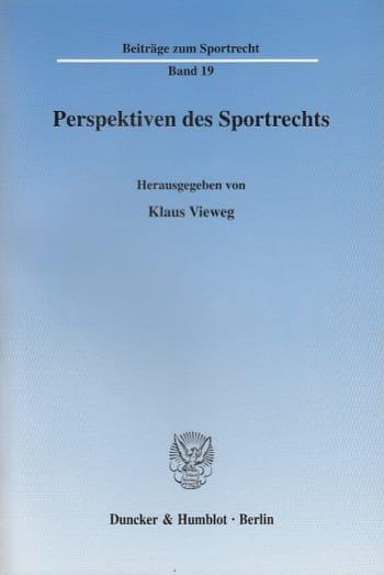 Cover: Perspektiven des Sportrechts