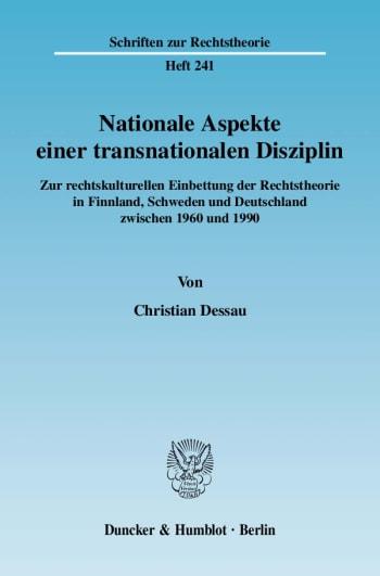 Cover: Nationale Aspekte einer transnationalen Disziplin