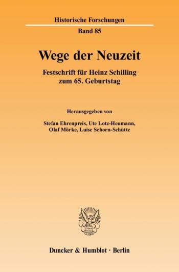 Cover: Wege der Neuzeit