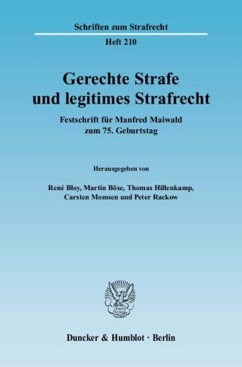 Cover: Gerechte Strafe und legitimes Strafrecht