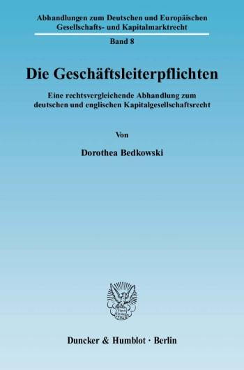 Cover: Die Geschäftsleiterpflichten