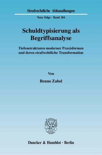 Cover: Schuldtypisierung als Begriffsanalyse