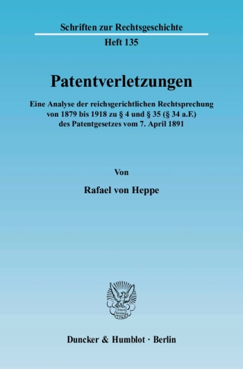 Cover: Patentverletzungen