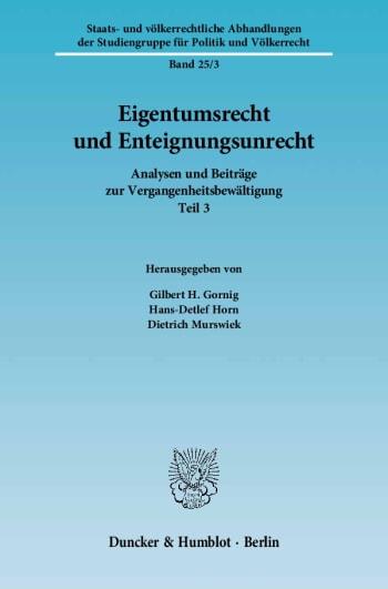 Cover: Eigentumsrecht und Enteignungsunrecht