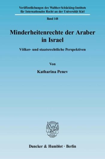 Cover: Minderheitenrechte der Araber in Israel