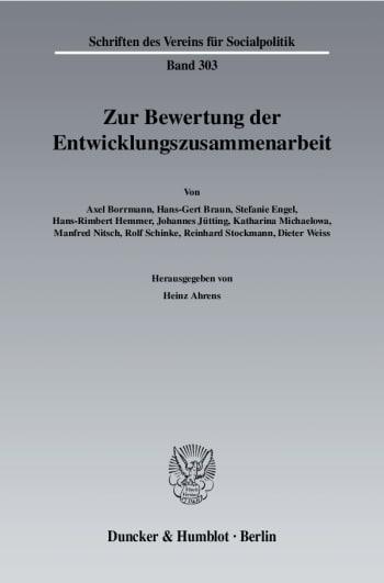 Cover: Zur Bewertung der Entwicklungszusammenarbeit