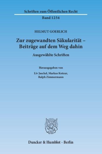 Cover: Zur zugewandten Säkularität – Beiträge auf dem Weg dahin