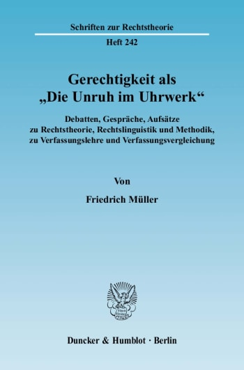 """Cover: Gerechtigkeit als """"Die Unruh im Uhrwerk"""""""