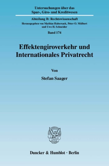 Cover: Effektengiroverkehr und Internationales Privatrecht
