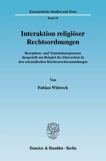 Cover: Interaktion religiöser Rechtsordnungen