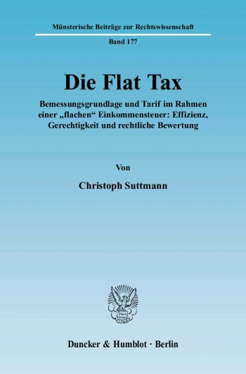 Cover: Die Flat Tax