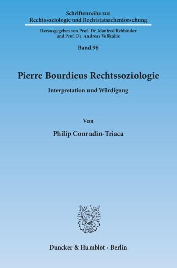 Cover: Pierre Bourdieus Rechtssoziologie
