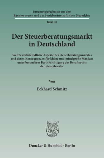 Cover: Der Steuerberatungsmarkt in Deutschland